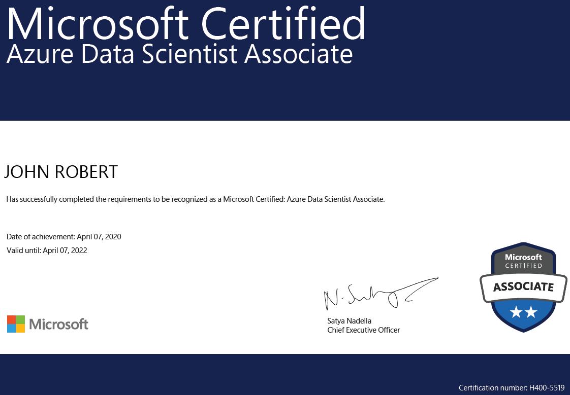 dp azure exam data scientist associate becoming pass certificate does